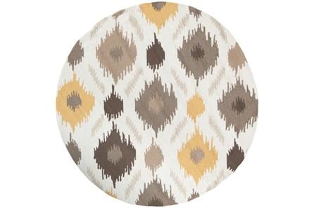 48 Inch Round Rug-Litura Gold/Grey