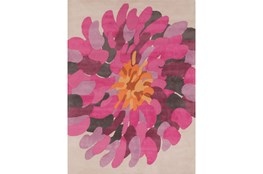 96X132 Rug-Chrysanthemum Magenta