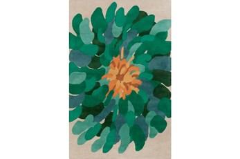 60X96 Rug-Chrysanthemum Emerald