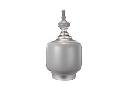 16 Inch Ceramic White/Grey Vase
