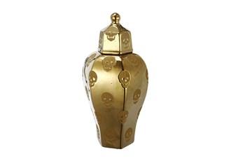 Gold Skull Vase Medium