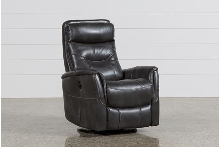 Gannon Flint Power Swivel Glider Recliner W/Built-In Battery