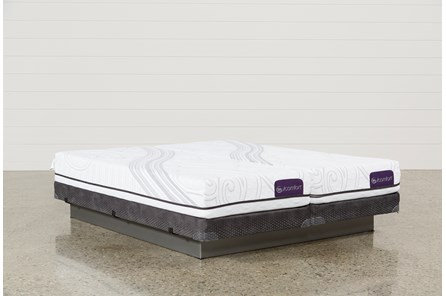 Foresight Cal King Split Mattress Set W/Low Profile Foundation