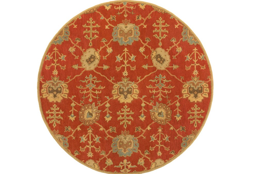 48 Inch Round Rug-Callaby Red
