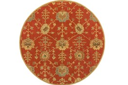 117 Inch Round Rug-Callaby Red