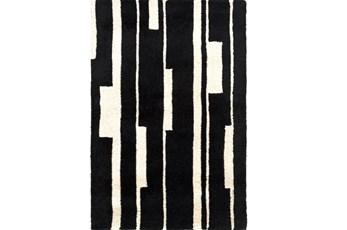39X63 Rug-Klavier Black/White