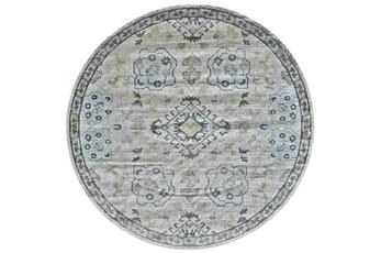 96 Inch Round Rug-Melissa Blue