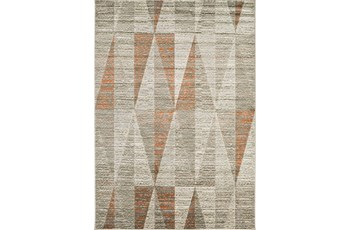 62X90 Rug-Hiru Grey/Orange