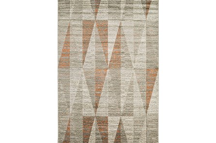 90X126 Rug-Hiru Grey/Orange