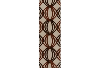 30X96 Rug-Rever Rust/Chocolate