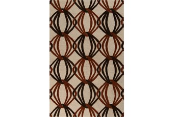 39X63 Rug-Rever Rust/Chocolate