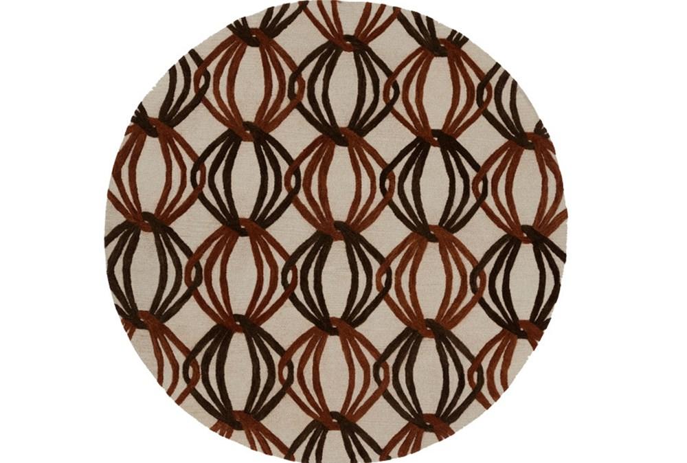 96 Inch Round Rug-Rever Rust/Chocolate