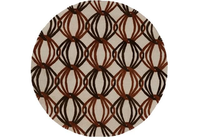 96 Inch Round Rug-Rever Rust/Chocolate - 360