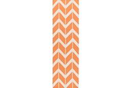 30X96 Rug-Azibo Orange Chevron