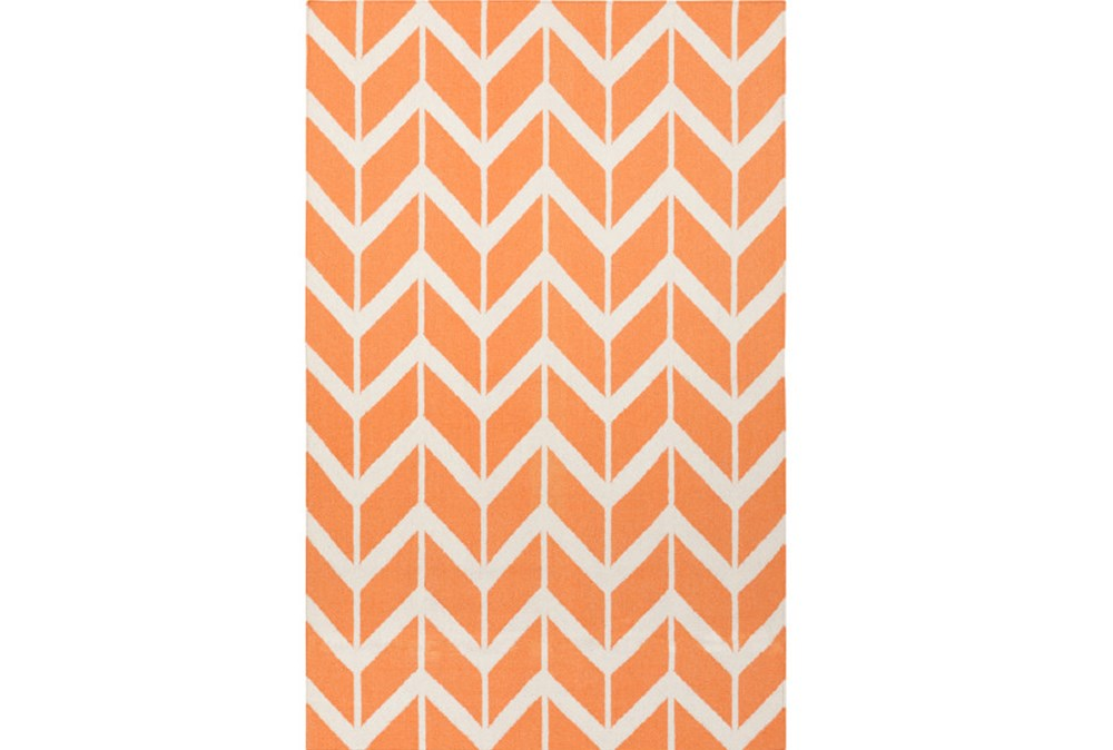 60X96 Rug-Azibo Orange Chevron
