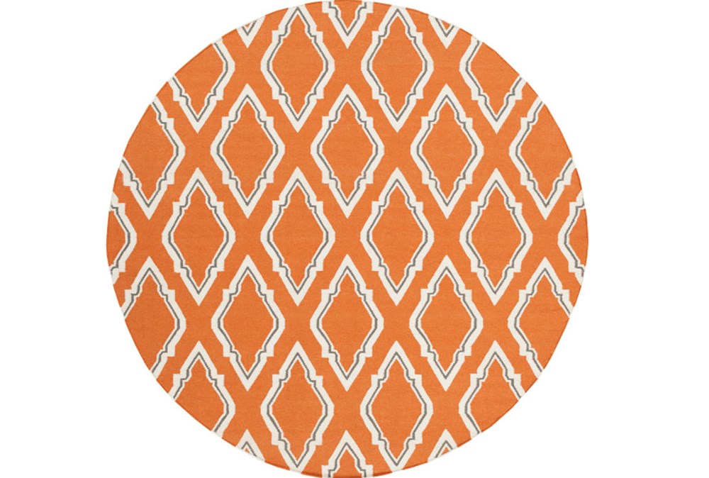 96 Inch Round Rug-Daniel Orange