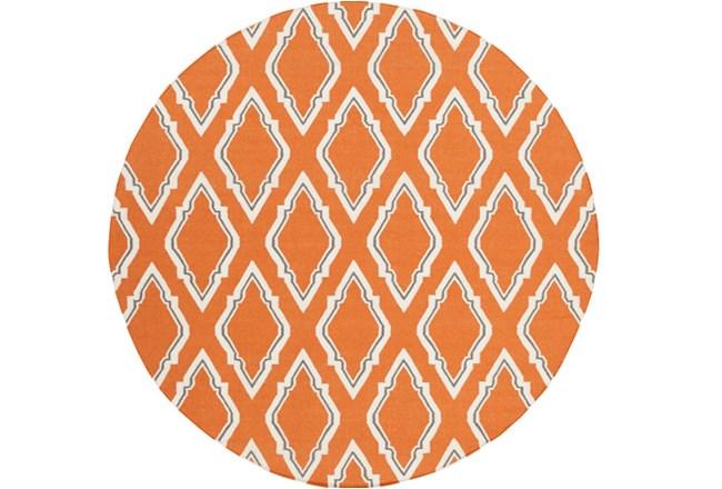 96 Inch Round Rug-Daniel Orange - 360