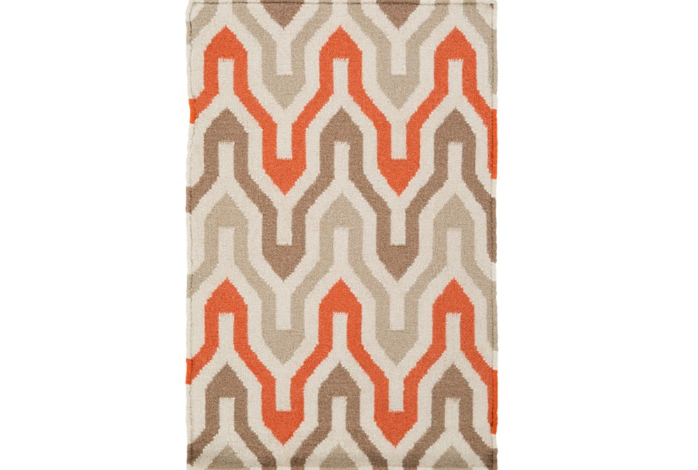 24X36 Rug-Andres Taupe/Tangerine