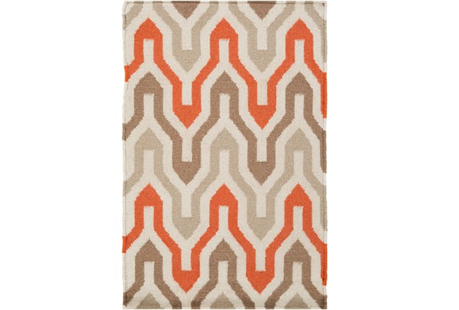 24X36 Rug-Andres Taupe/Tangerine - 360