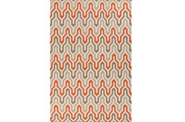 42X66 Rug-Andres Taupe/Tangerine