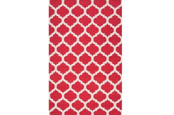 60X96 Rug-Tron Cherry/White
