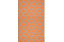 42X66 Rug-Tron Tangerine/Grey