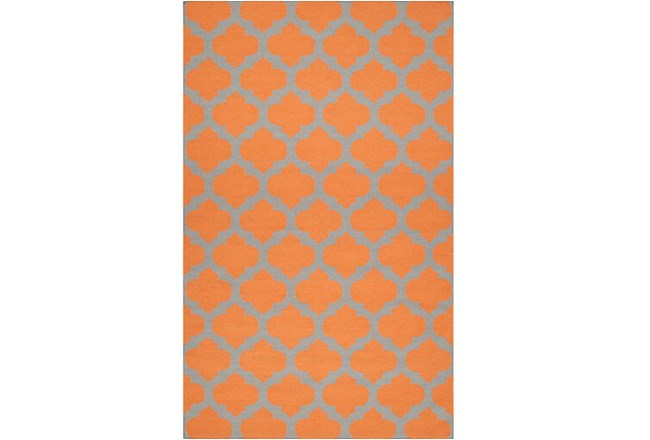 60X96 Rug-Tron Tangerine/Grey - 360