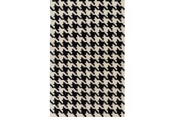 42X66 Rug-Diente Black/Ivory