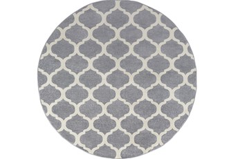 94 Inch Round Rug-Anor Charcoal