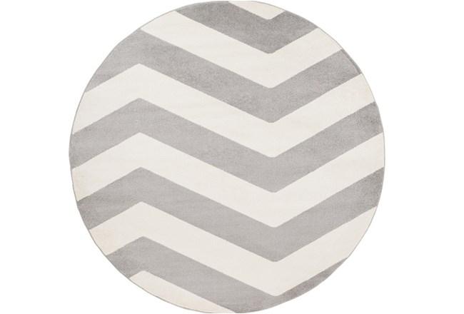 94 Inch Round Rug-Tambaleo Grey/White - 360