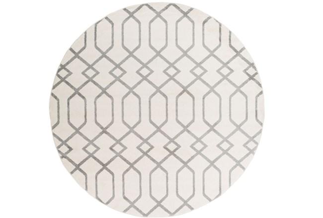 94 Inch Round Rug-Conrad Ivory/Grey - 360
