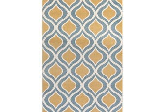 63X87 Rug-Ornate Gold/Blue
