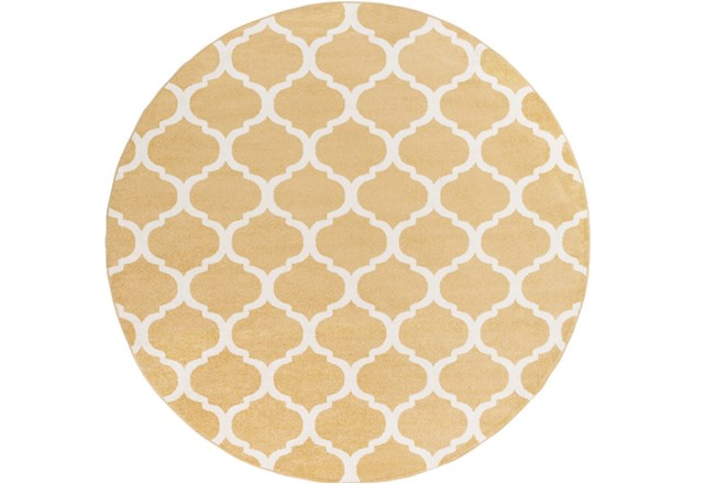 94 Inch Round Rug-Anor Gold - 360