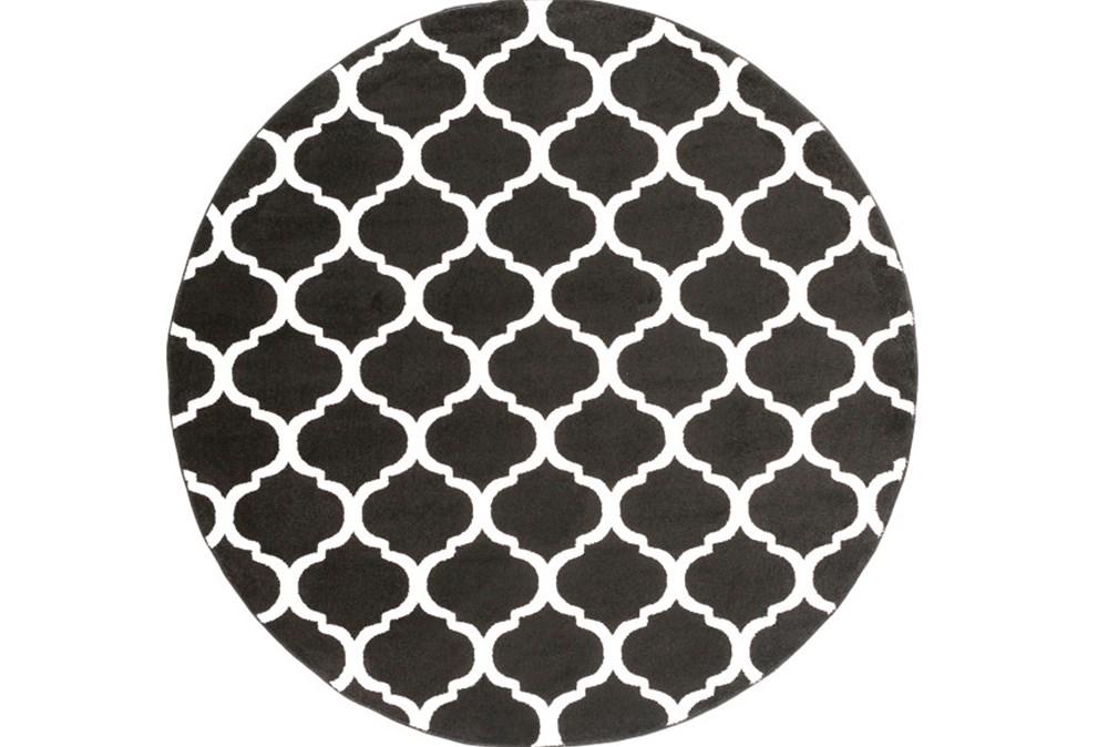 94 Inch Round Rug-Anor Black