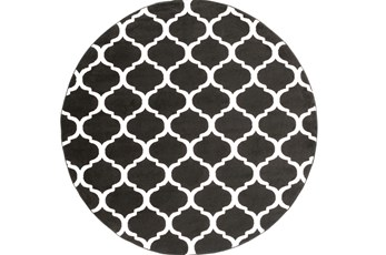 94 Inch Round Rug-Anor Black