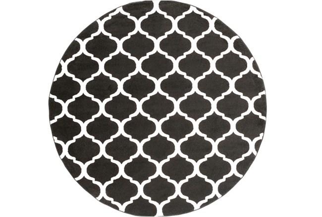 94 Inch Round Rug-Anor Black - 360
