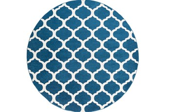 94 Inch Round Rug-Anor Navy