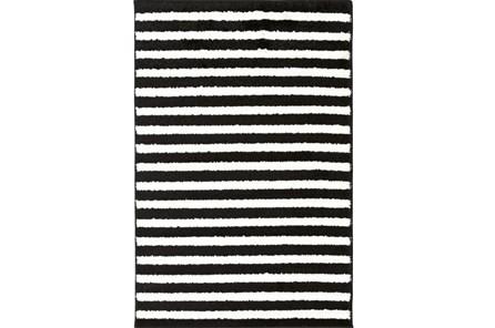 24X36 Rug-Karah Stripe Black
