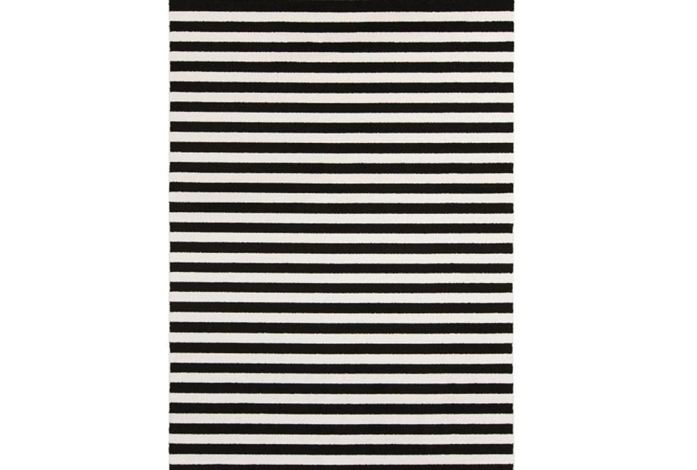 63X87 Rug-Karah Stripe Black