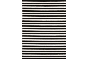 63X87 Rug-Karah Stripe Black