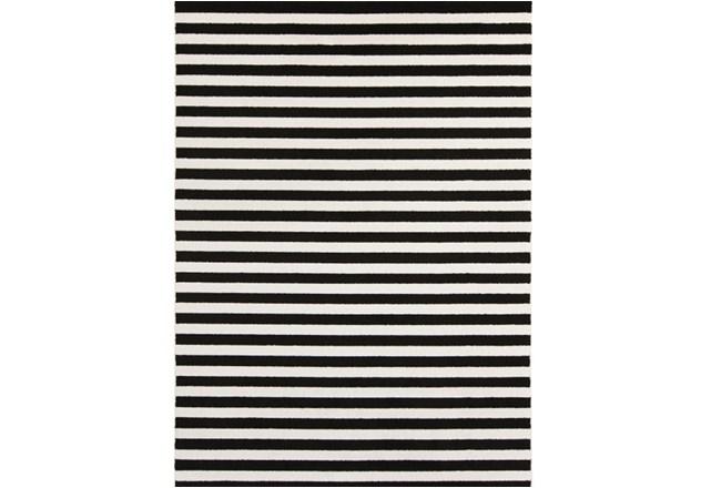 63X87 Rug-Karah Stripe Black - 360