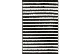 111X150 Rug-Karah Stripe Black