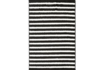 111X150 Rug-Karah Stripe Black
