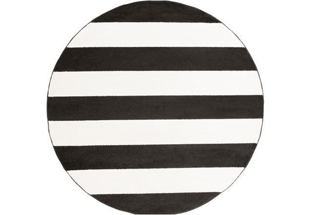 94 Inch Round Rug-Limba Black - 360