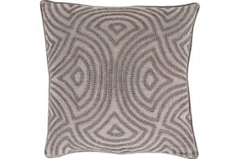 Accent Pillow-Zinnia Grey 22X22