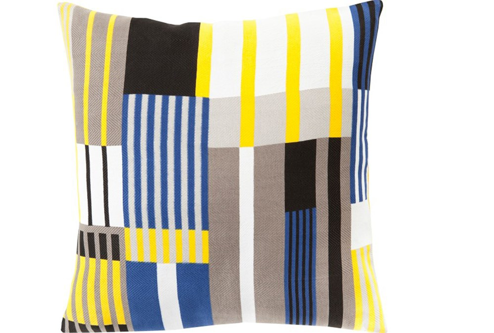 Accent Pillow-Yellow Chloe Plaid 18X18