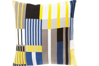 Accent Pillow-Yellow Chloe Plaid 18X18