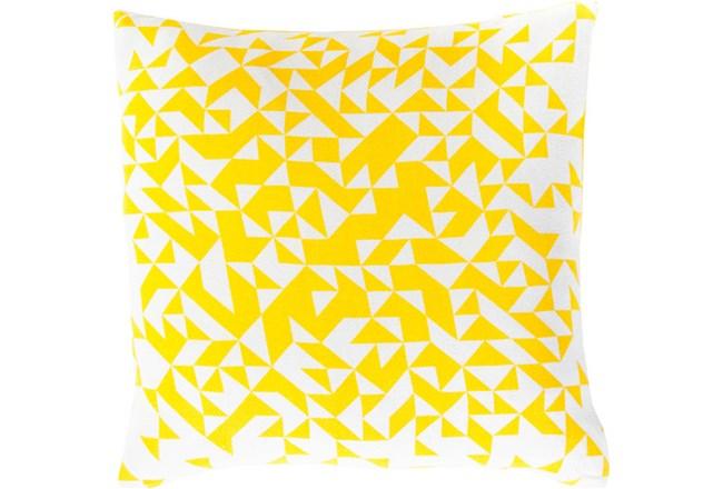 Accent Pillow- Elisa Yellow Pixels 18X18 - 360