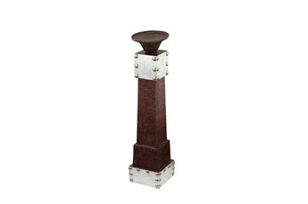 21 Inch Brown Candleholder