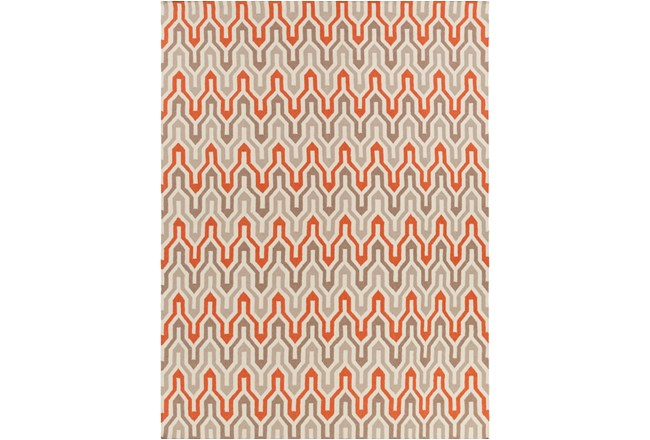 96X132 Rug-Andres Taupe/Tangerine - 360